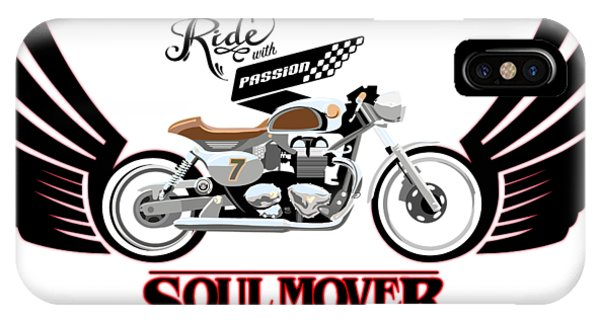Logo iPhone Case - Ride With Passion Cafe Racer by Sassan Filsoof