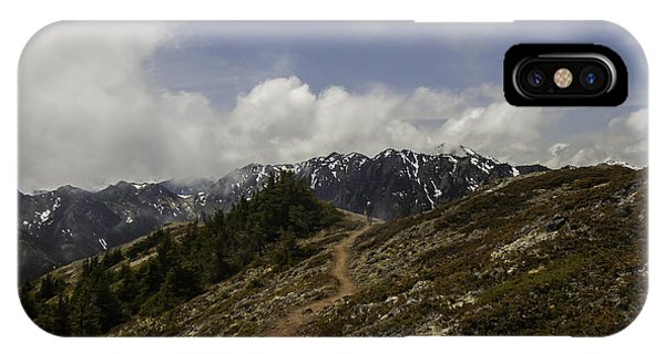 Ridge Walking In The Olympic Mountains IPhone Case