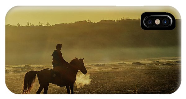 Riding His Horse IPhone Case