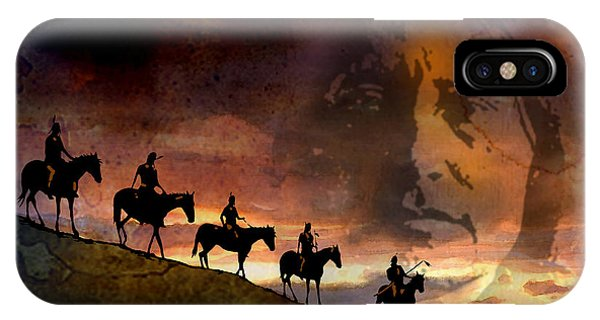 Riding Into Eternity IPhone Case