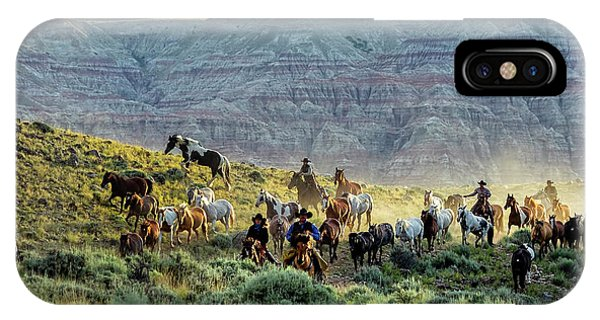 Riding Out Of The Sunrise IPhone Case