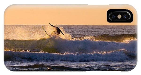 Surf iPhone Case - Riding The Crest by Mike  Dawson