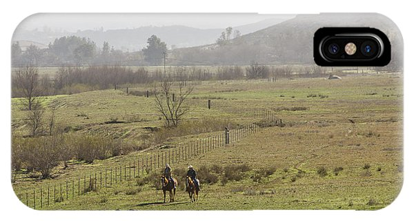 Riding The Fences IPhone Case