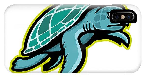 Turtle iPhone X Case - Ridley Sea Turtle Mascot by Aloysius Patrimonio