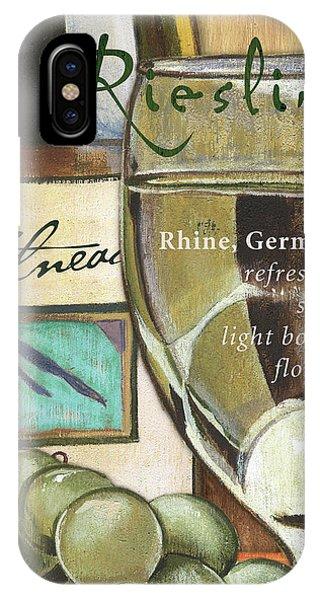Vino iPhone Case - Riesling Wine by Debbie DeWitt