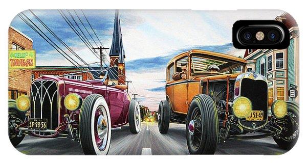 Chrome iPhone Case - Riff Raff Race 5 by Ruben Duran