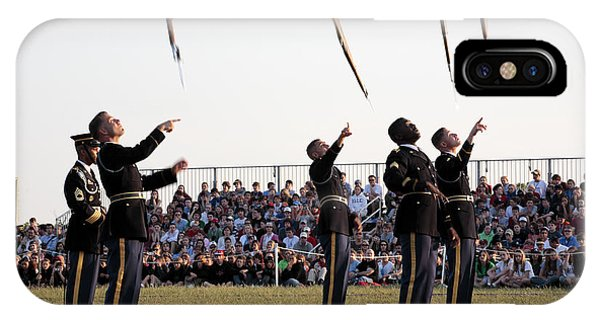 iPhone Case - Rifle Toss By The Old Guard At The Twilight Tattoo  In Washington Dc by William Kuta