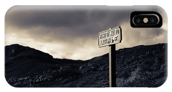 Right Of Way To Laggan IPhone Case