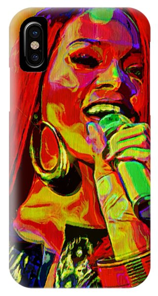 Rihanna iPhone Case - Rihanna 2 by  Fli Art