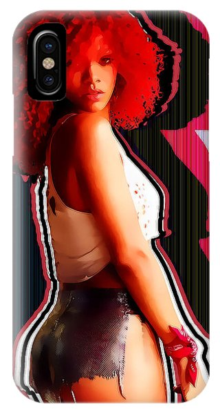 Rihanna iPhone Case - Rihanna Colors By Gbs by Anibal Diaz