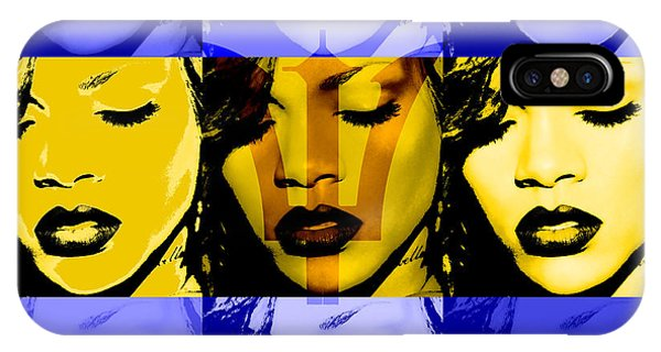 Rihanna iPhone Case - Rihanna Warhol Barbados By Gbs by Anibal Diaz