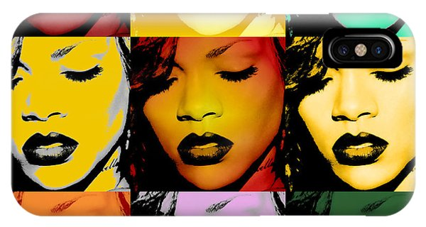 Rihanna iPhone Case - Rihanna Warhol By Gbs by Anibal Diaz