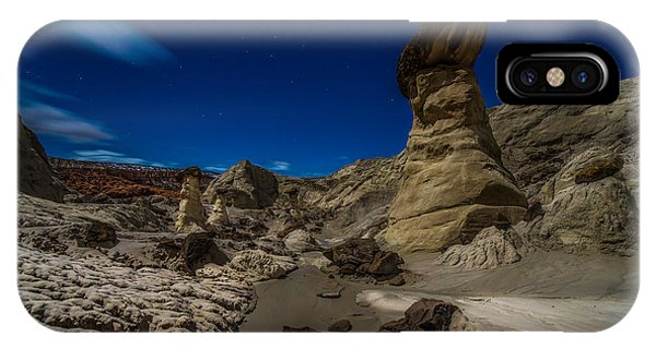 Long Exposure iPhone Case - Rim Rock Toadstools Grand Staircase National Monument  by Larry Marshall