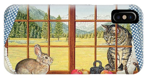 Window Pane iPhone Case - Rimrock Cottontail by Ditz