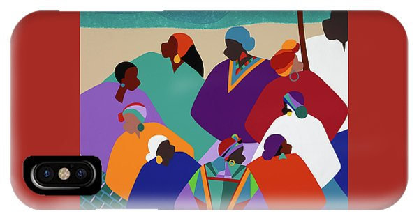 iPhone X Case - Ring Shout Gullah Islands by Synthia SAINT JAMES