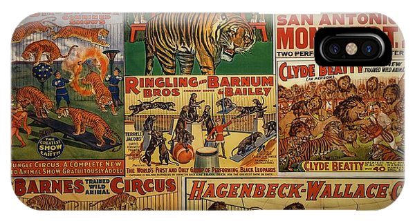 Barnum And Bailey iPhone Case - Ringling Brothers Posters by David Bearden