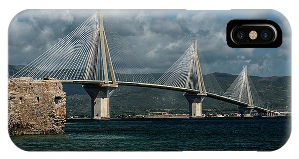 IPhone Case featuring the photograph Rio-andirio Hanging Bridge by Jaroslaw Blaminsky