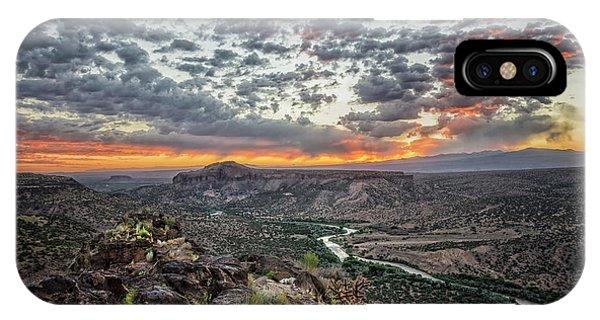 Rio Grande River Sunrise 2 - White Rock New Mexico IPhone Case