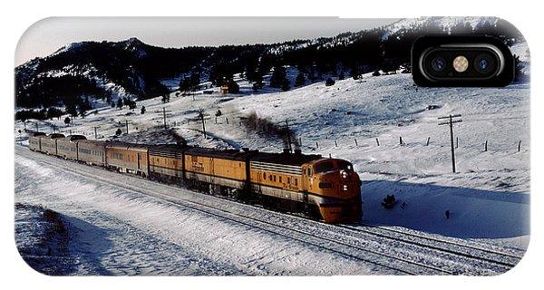 Rio Grande Zephyr Trainset In The Snow, Plainview Colorado, 1983 IPhone Case