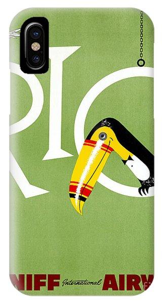 Rio Vintage Travel Poster Restored IPhone Case