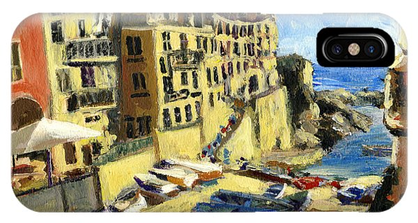 Riomaggiore Italy Late Afternoon IPhone Case