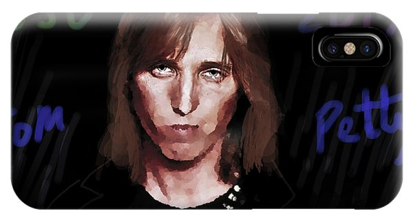 Rock And Roll Jimmy Page iPhone Case - Rip Tom Petty 1950 2017 by Enki Art