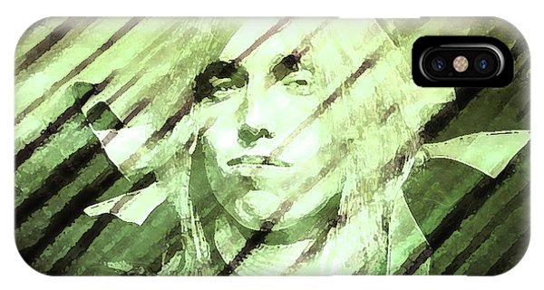 Rock And Roll Jimmy Page iPhone Case - Rip Tom Petty by Enki Art