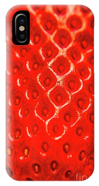 Agriculture iPhone Case - Ripe Red Fresh Strawberry Texture And Detail by Jorgo Photography - Wall Art Gallery