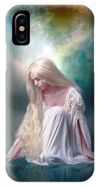 Blond iPhone Case - Ripples by Karen Koski