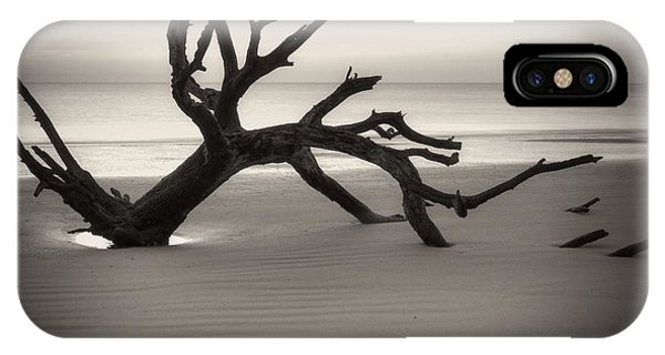 Ripples Of Sand And Driftwood Sepia IPhone Case