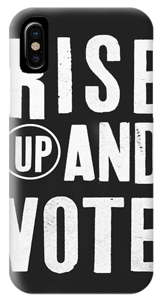 Change iPhone Case - Rise Up And Vote Black And White- Art By Linda Woods by Linda Woods