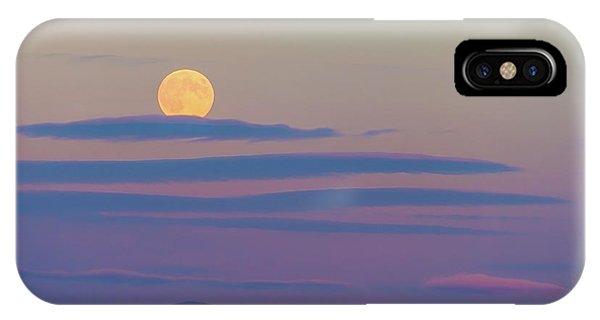 Rising Harvest Moon  IPhone Case