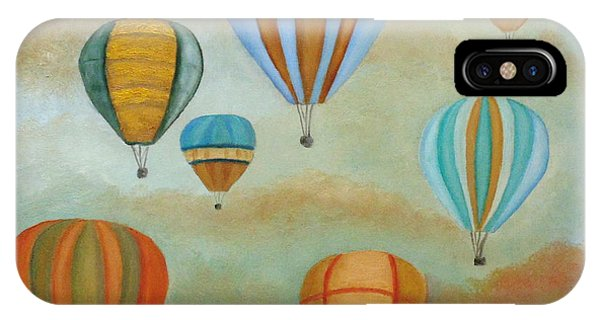 Hot Air Balloons iPhone Case - Rising High by Angeles M Pomata