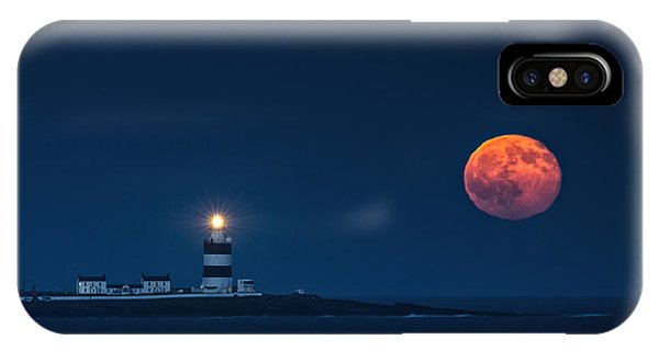 Dunmore East iPhone Case - Rising Moon by Leah Burgess