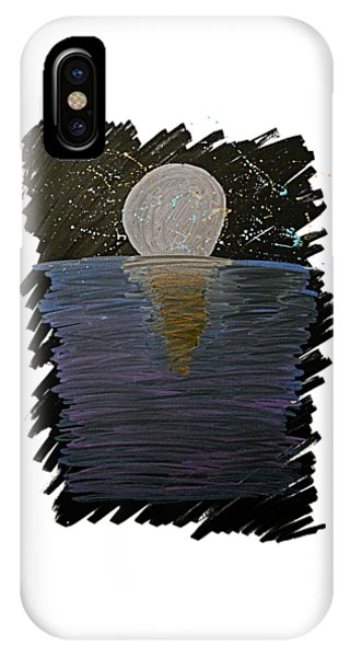 IPhone Case featuring the drawing Rising Moon by Bee-Bee Deigner