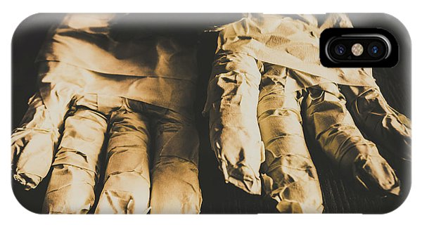 Nobody iPhone Case - Rising Mummy Hands In Bandage by Jorgo Photography - Wall Art Gallery
