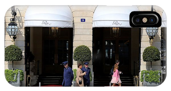 Girls In Pink iPhone Case - Ritz Hotel Paris by Andrew Fare