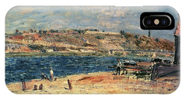 River iPhone Case - River Banks At Saint-mammes by Alfred Sisley