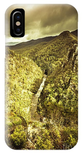 Stone Wall iPhone Case - River Below by Jorgo Photography - Wall Art Gallery