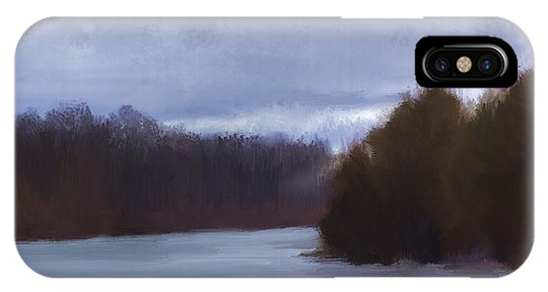 River Bend In Winter IPhone Case