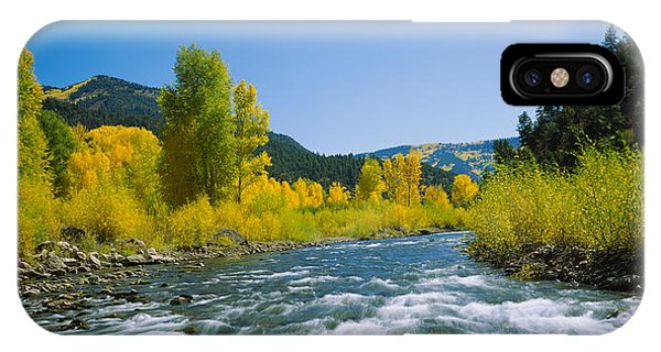 San Miguel iPhone Case - River Flowing In The Forest, San Miguel by Panoramic Images