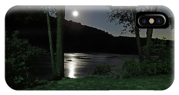 River In Moonlight IPhone Case