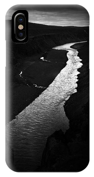 Landscapes iPhone Case - River In The Dark In Iceland by Matthias Hauser
