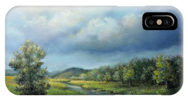 River Landscape Spring After The Rain IPhone Case