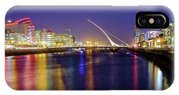 River Liffey In Dublin At Dusk IPhone Case