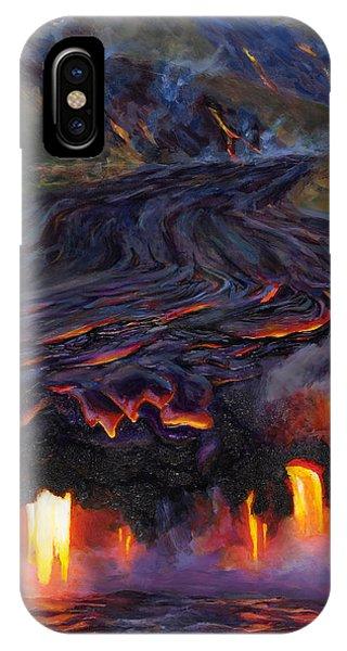 River Of Fire - Kilauea Volcano Eruption Lava Flow Hawaii Contemporary Landscape Decor IPhone Case