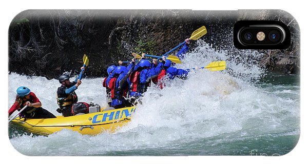 iPhone Case - River Rafting Kananaskis River Canada by Bob Christopher
