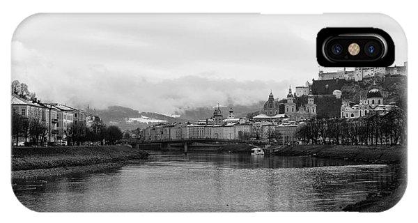 River Salzach View In Salzburg IPhone Case