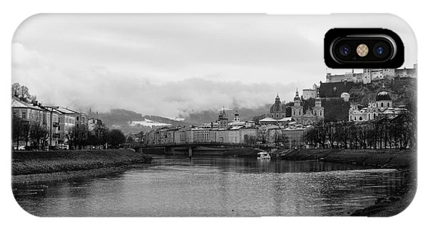 River Salzach View In Salzburg IPhone Case