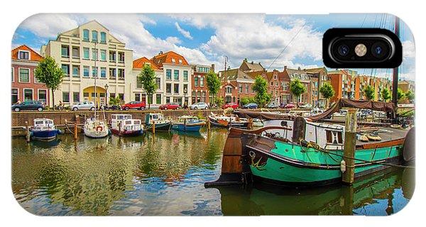 River Scene In Rotterdam IPhone Case